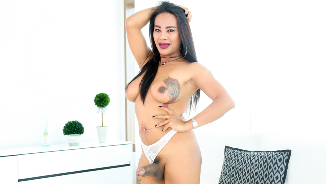 Thank ladyboys their big they cum masturbate two cocks until remarkable, amusing